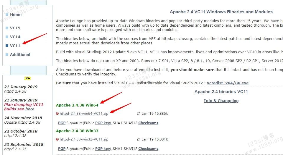 Apache 2.4.38 Win64