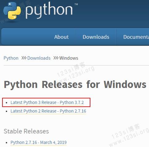 下载 Python 安装文件