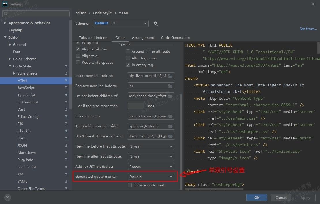 HTML 单双引号设置